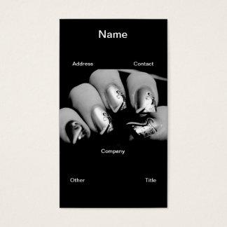 Uñas del diseñador tarjeta de negocios