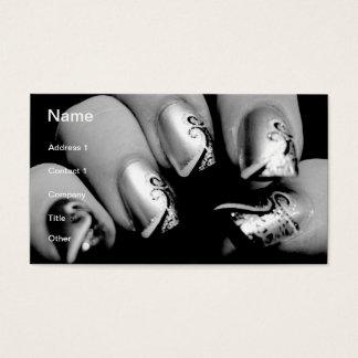 Uñas del diseñador tarjeta de visita