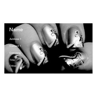Uñas del diseñador tarjetas de visita