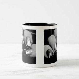 Uñas del diseñador taza bicolor