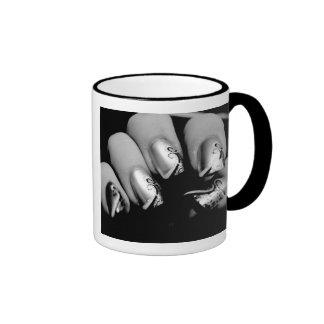 Uñas del diseñador taza de dos colores