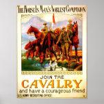 Únase a la caballería - caballo de guerra posters
