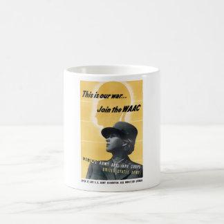 Únase al WAAC -- WW2 Taza Básica Blanca