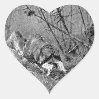 Und Tod (Edelhirsche del Auf Leben en el der Pegatina En Forma De Corazón