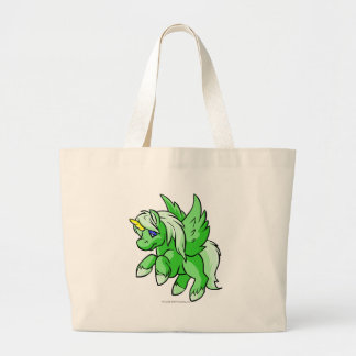Uni verde bolsa tela grande