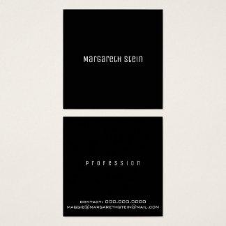 unica elegante minimalista un negro del estilo de tarjeta de visita cuadrada