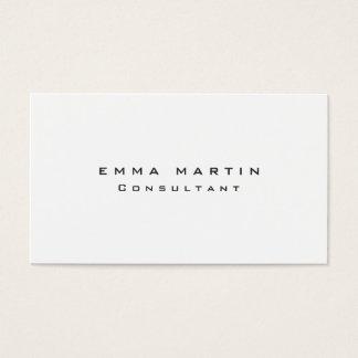 Único blanco negro limpio original tarjeta de negocios