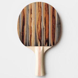 Único fresco de la textura de madera de la cerca pala de ping pong