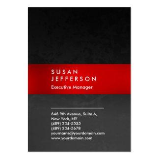 Único profesional del modelo gris rojo elegante tarjetas de visita grandes