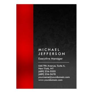 Único profesional del modelo gris rojo vertical tarjetas de visita grandes