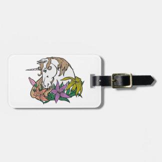 Unicornio 1 etiqueta para maletas