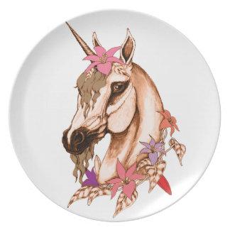Unicornio 3 plato para fiesta