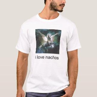 unicornio, amo los nachos camiseta
