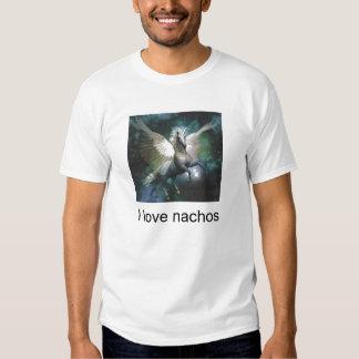 unicornio, amo los nachos camisetas
