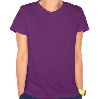 Unicornio azul en la camiseta de la mujer del clar
