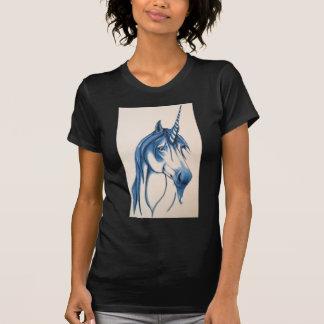 Unicornio azul hermoso camisetas