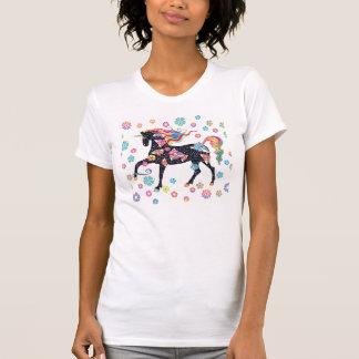 Unicornio - azul marino camiseta