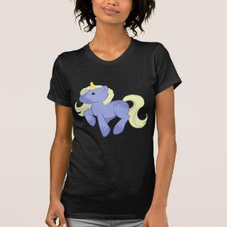Unicornio azul y amarillo lindo camisetas