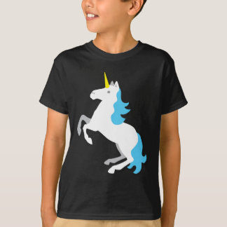 Unicornio azul y blanco camiseta