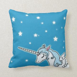 Unicornio azul y blanco de Pegaso Almohadas