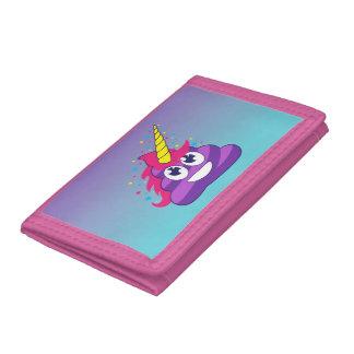 Unicornio azul y púrpura Poo Emoji de Ombre