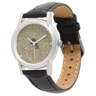 unicornio chispeante de oro reloj de pulsera