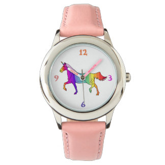 Unicornio colorido reloj de pulsera