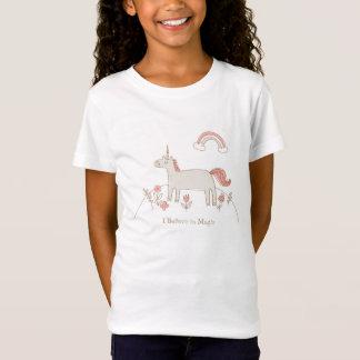 Unicornio, creo en camiseta mágica