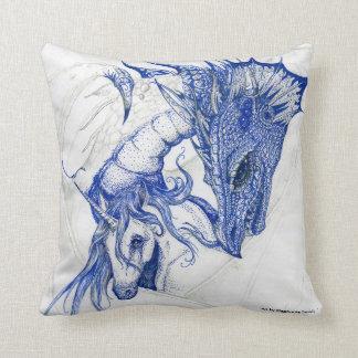 Unicornio de abrazo y dragón cojín decorativo