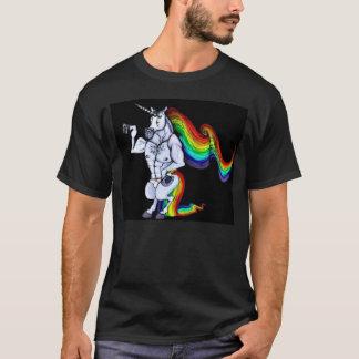 Unicornio de color de ante camiseta