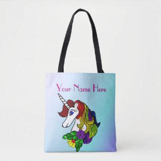 Unicornio de encargo del arco iris de la bolsa de