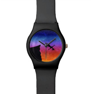 Unicornio de la zambullida del acantilado reloj de pulsera