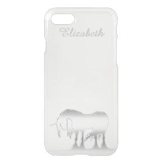 Unicornio de plata funda para iPhone 7