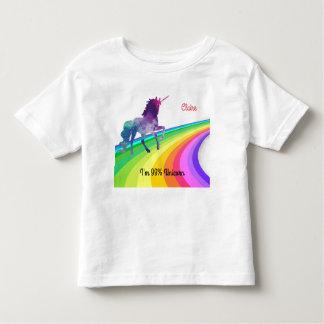 Unicornio del arco iris - la camiseta del chica