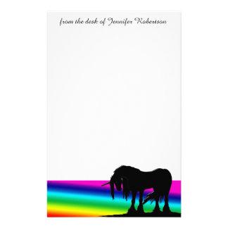 Unicornio del arco iris papelería