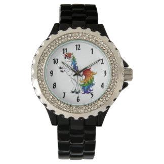 Unicornio del arco iris reloj