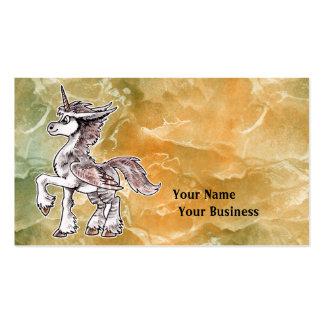 Unicornio del búho tarjetas de visita