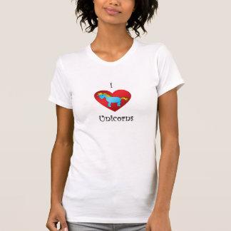 Unicornio del corazón I en azul Camiseta