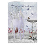 Unicornio del invierno de las Felices Navidad, Felicitaciones