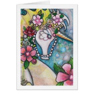 Unicornio del mar tarjeta de felicitación