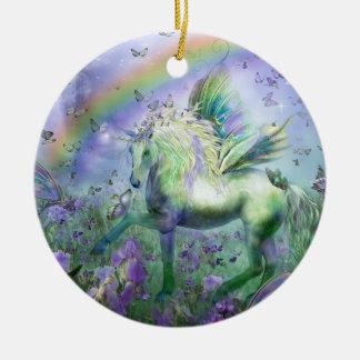 Unicornio del ornamento del día de fiesta de las