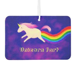 Unicornio divertido Farting un ambientador de aire