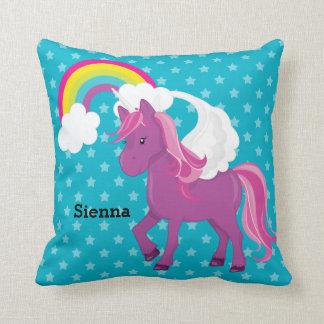 Unicornio * elija su color de fondo cojín decorativo