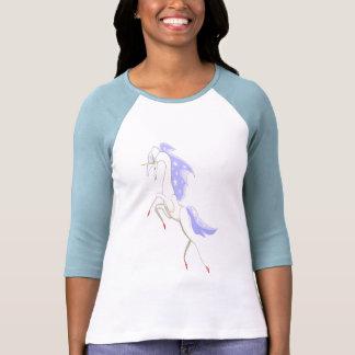 Unicornio en azul camisetas