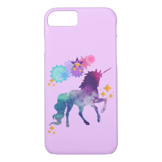 Unicornio estupendo de la galaxia de la estrella funda para iPhone 8/7