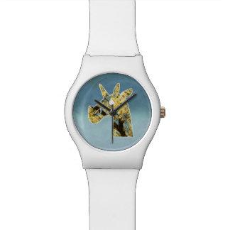 Unicornio floreciente reloj de pulsera