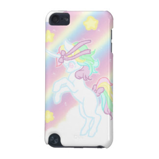 Unicornio lindo del arco iris funda para iPod touch 5