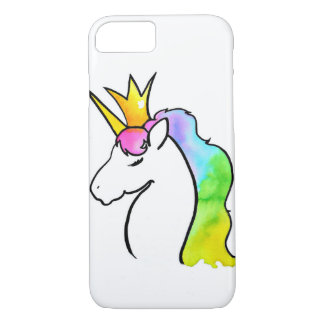 Unicornio mágico de la acuarela funda para iPhone 8/7