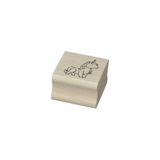 Unicornio rechoncho sello de caucho
