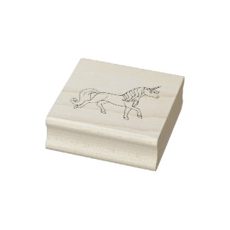 Unicornio regular sello de caucho